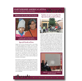 PAL charity newsletter October 2013